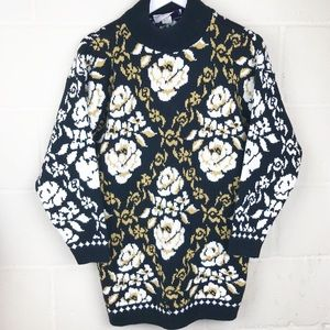 Sweater Exchange Vintage Damask Chunky Sweater